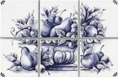 Delft 0007095 Decoro CP/6 Fruits 10*10